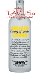 Image of vodka Absolut Citron 40% 0,7l
