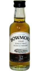 Whisky Bowmore 12 Years 40% 50ml etik2 miniatura
