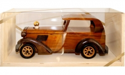 sklo Dřevěné Auto staré Limuzína 0,2l + přírodní