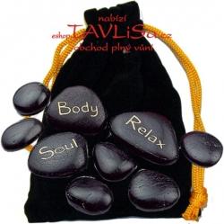 Masážní Horké Lávové Kameny pytlík černý
