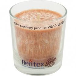 svíčka palmová ve skle santal 370g Rentex