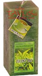 svíčka kvádr Zelený čaj rustic vonná 200g Rentex