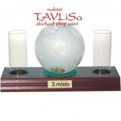 sklo Fotbalový míč 0,35l odlivky nápis 3.místo