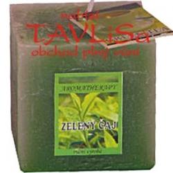 svíčka kostička Zelený čaj rustic vonná 110g Re