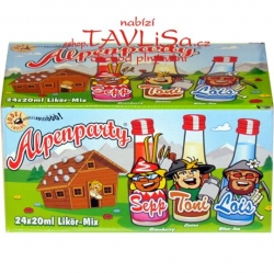 likér Alpenparty Mix Box 24ks x 20ml miniatura