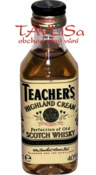 whisky Teachers scotch 40% 50ml hranatá miniatura