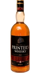 Whisky Printers 40% 0,7l 6-years Stock