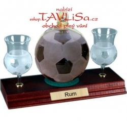 Tuzemák Fotbalový míč 0,35l pohárky nápis Rum