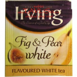 čaj přebal Irving Fig a Pear white