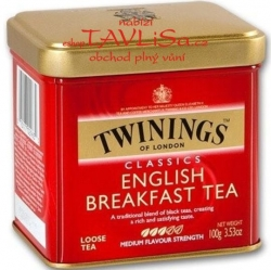 čaj černý English Breakfast 100g Plech Twinings