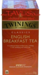 čaj černý English Breakfast tea 25x2g Twinings