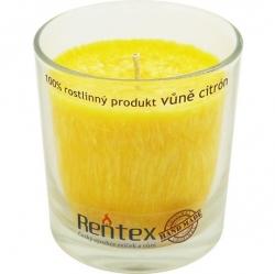 svíčka palmová ve skle citrón 370g Rentex