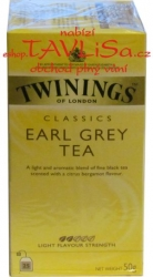 čaj černý Earl Grey tea 25x2g Twinings