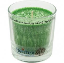 svíčka palmová ve skle zelený čaj 370g Rentex