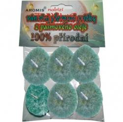 Svíčky plovoucí palmový olej 6ks zelená Aromis