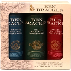 Sada Whisky Ben Bracken 40% 50ml x3 ks miniatur