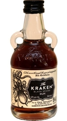 Kraken Rum Black Spiced 47% 50ml Miniatura etik2