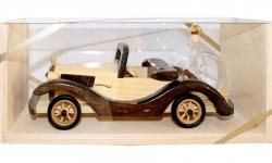 sklo Dřevěné Auto New Kabriolet 0,2l + přírodní