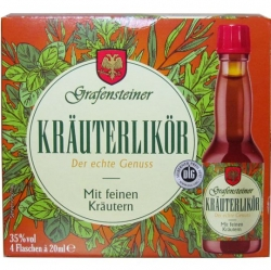 Krauter likor 35% 20ml x4 Grafensteiner miniatura