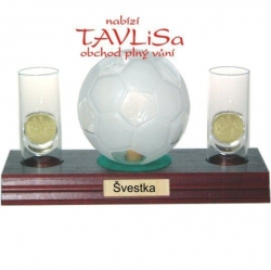 sklo Fotbal míč 0,35l odlivky me nápis Švestka