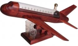 sklo Dřevěné tryskové letadlo 0,35l a odlivky