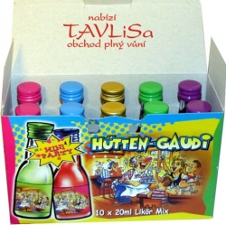 likér Super Mix Hutten Gaudi 10ks x 20ml miniatura
