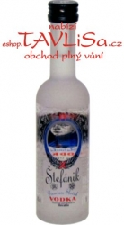 Vodka Štefánik Clear zrcadlo 40% 50ml miniatura