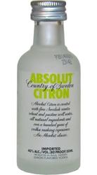Vodka Absolut Citron 40% 50ml miniatura