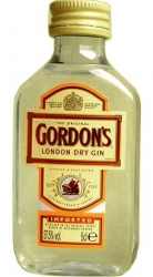 Gin Gordons London Dry 37,5% 50ml miniatura
