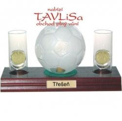 sklo Fotbal míč 0,35l odlivky me nápis Třešeň