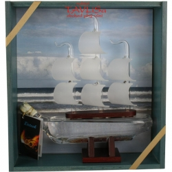 sklo Dřevěná Loď 0,2l + bedýnka stříkaná
