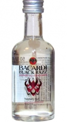 Rum Bacardi Black Razz Raspberry35% 50ml miniatura
