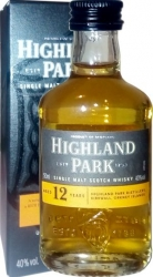 Whisky Highland Park 12 Years 40% 50ml Krabič mini
