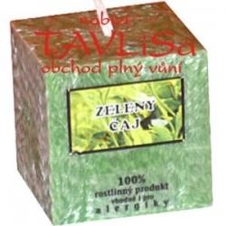 svíčka kostička Zelený čaj palmová 100g Rentex