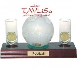 sklo Fotbal míč 0,35l odlivky me nápis Football