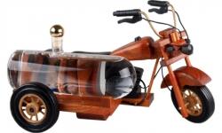 sklo Dřevěná motorka s cisternou 0,35l