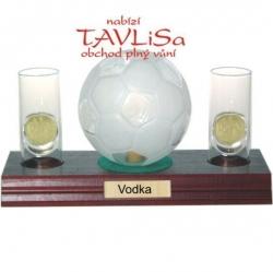 sklo Fotbal míč 0,35l odlivky me nápis Vodka