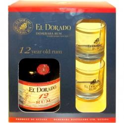 Rum El Dorado 12 let 40% 0,7l Box 2x sklo
