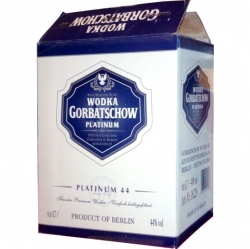 Vodka Gorbatschow Platinum Clear 44% 0,7l x6 ks