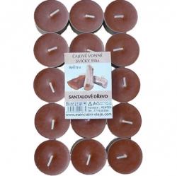 Vonné čajové svíčky 15ks Santalové dřevo Rentex
