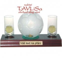 sklo Fotbal míč 0,35l odlivky me Váš text na přání