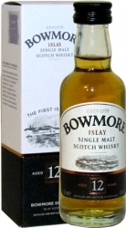 Whisky Bowmore 12 Years 40% 50ml etik2 Krabička
