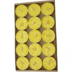 Vonné čajové svíčky palmové 15ks Citrón Rentex