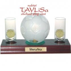sklo Fotbal míč 0,35l odlivky me nápis Meruňka