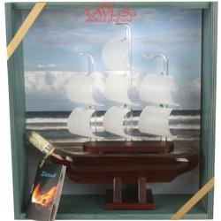 sklo Dřevěná Loď 0,2l + bedýnka přírodní