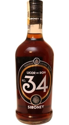Siboney No. 34 Rumový Likér 34% 0,7l etik3