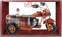 sklo Dřevěná motorka s cisternou 0,35l + stříkaná