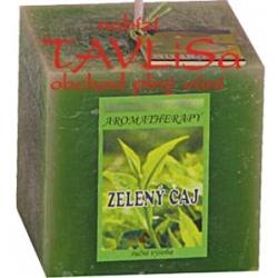 svíčka kostka Zelený čaj rustic vonná 240g Rentex