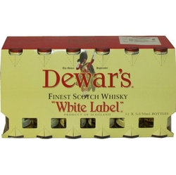 whisky Dewars 40% 50ml White Label x12 miniatura