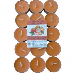 Vonné čajové svíčky 15ks Mandarinka Rentex